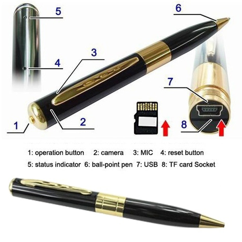 Mini DVR Pen Camera Pinhole SpyCam Digital Video Recorder Home Surveillance Camcorder