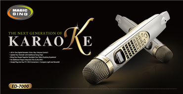 Brand New ED-7000 Magic Sing Karaoke Microphone 1,945 All Time Favorite POP ENGLISH Songs