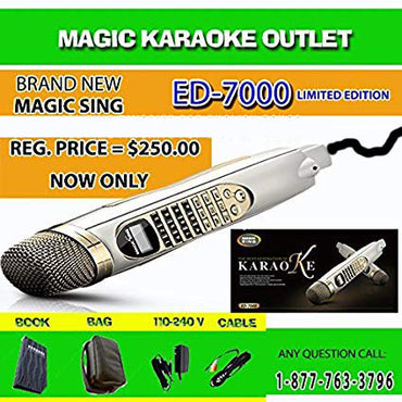 Magic Sing ED-7000 PINOY KARAOKE MICROPHONE TAGALOG