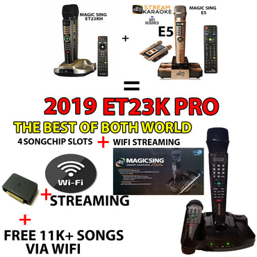 ET23PRO WIFI Magic Sing Karaoke Mic +Chip Slots +12K ENG +1 YEAR 220K Int'l song