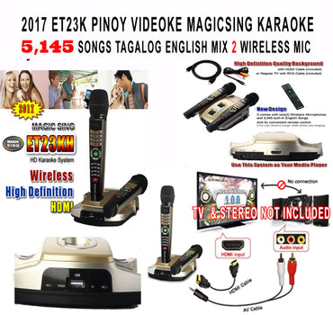 EBH-CA - 2017 MAGIC SING KARAOKE MIC ET23K PINOY VIDEOKE
