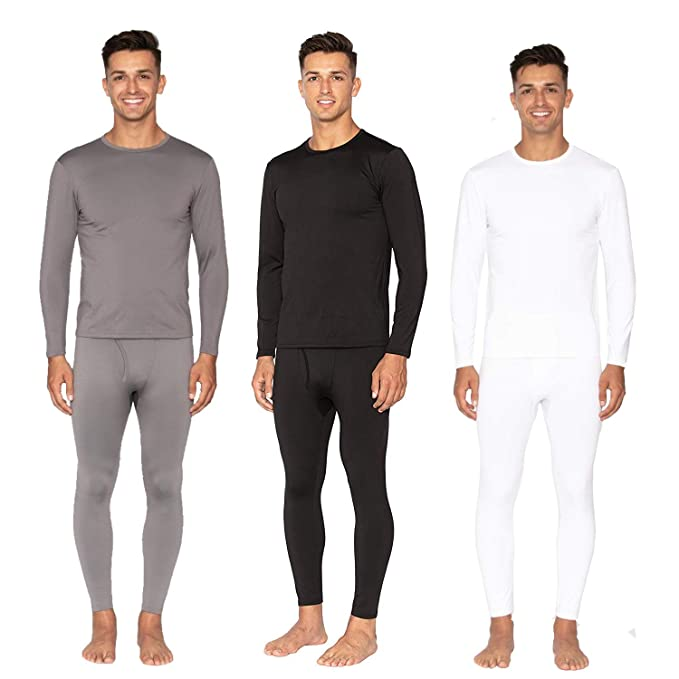 Men's Two-Piece Long Johns Thermal Underwear Set