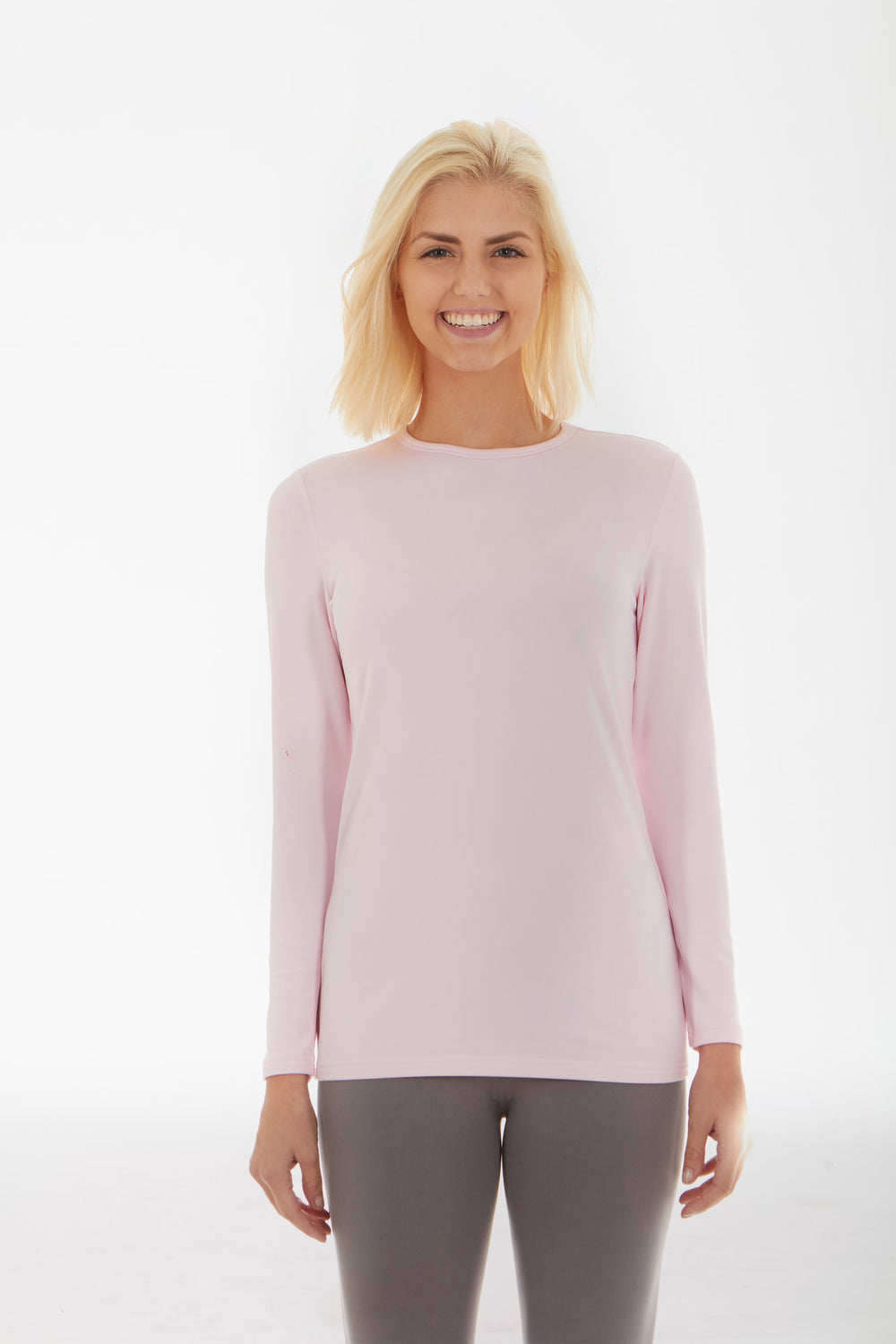 Baby Pink Women's Crew Neck Shirt