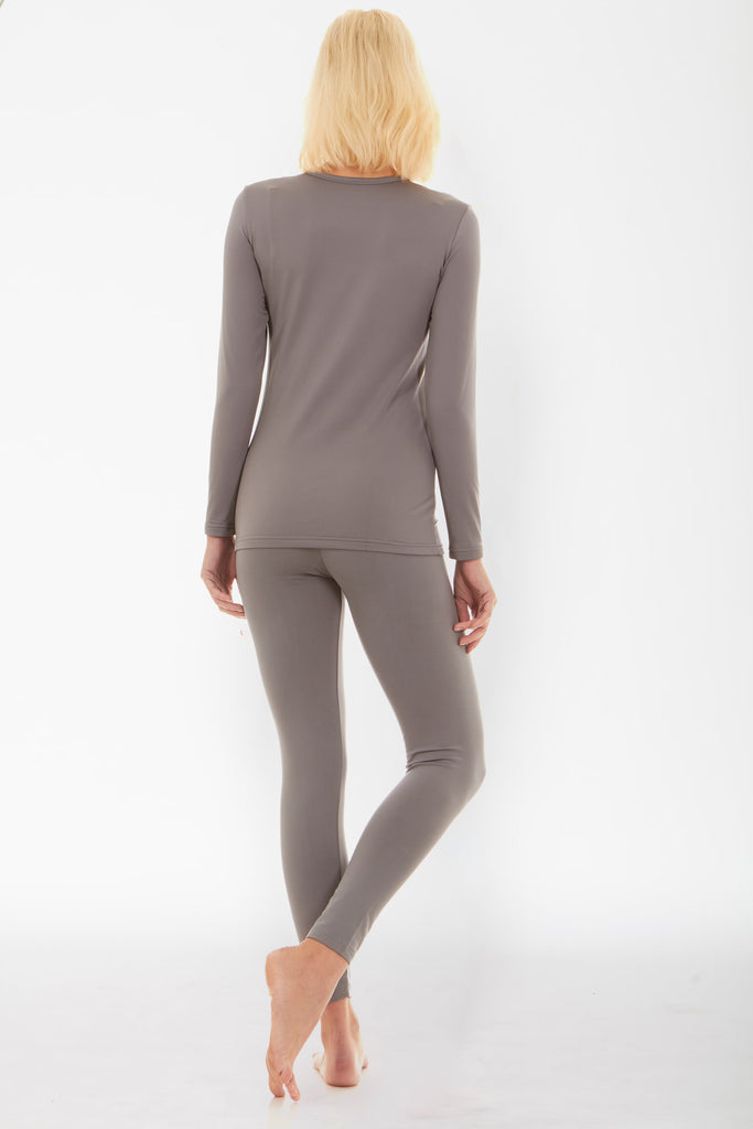 Grey Thermal Underwear Set