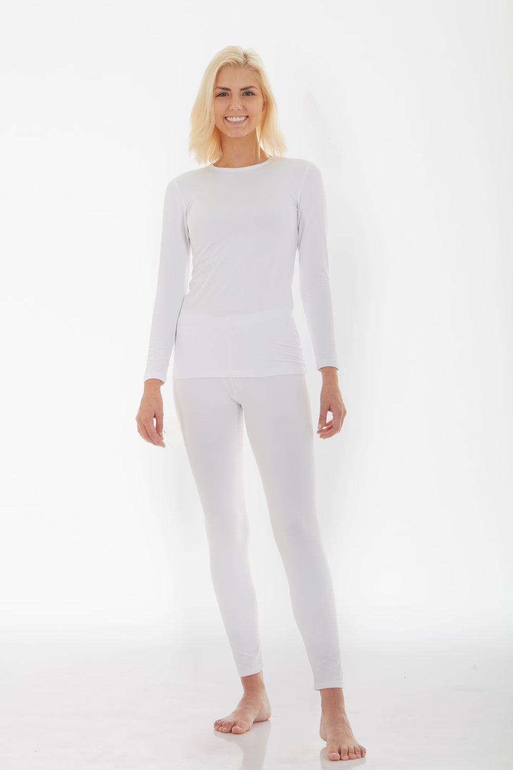 Women's Thermal White Underwear Set