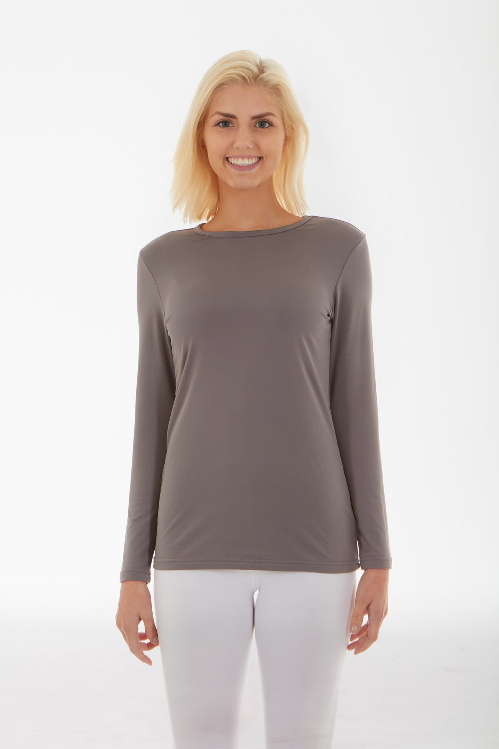Grey Women's Crew Neck Shirt