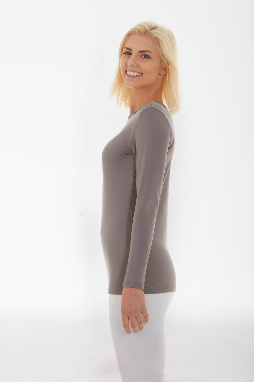 Women's Crew Neck Grey Shirt