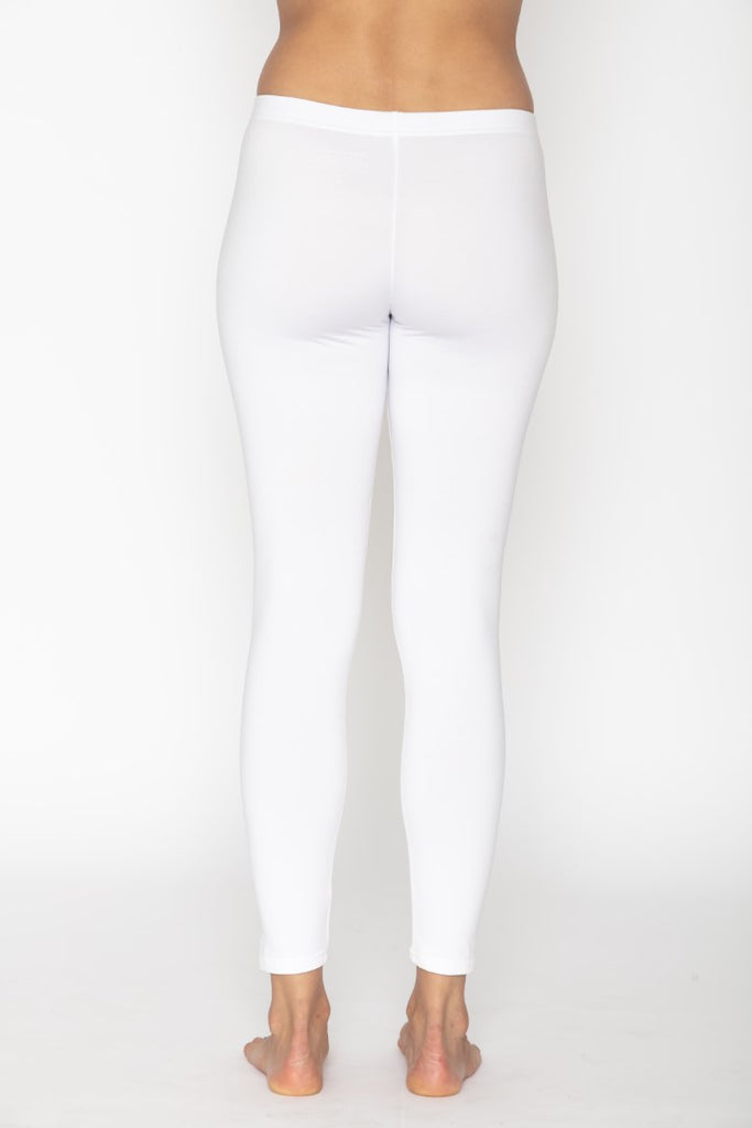Women's Thermal Long John White Leggings