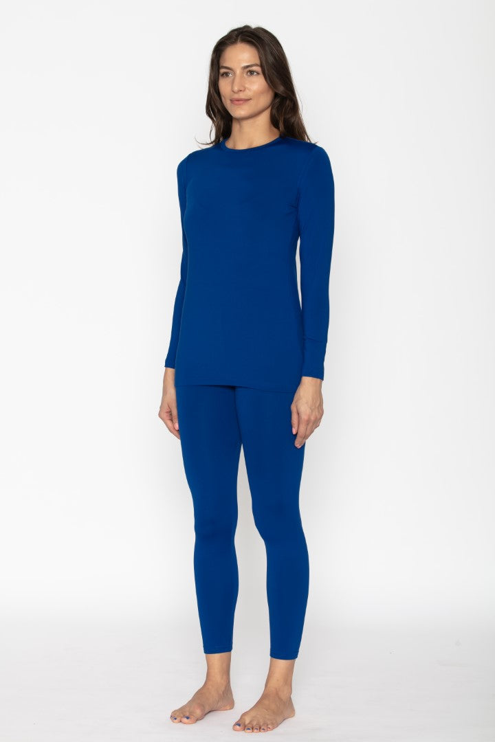 Women's Royal Blue Thermal Underwear Set