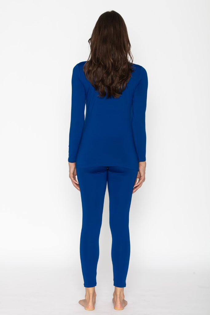 Royal Blue Thermal Underwear Set