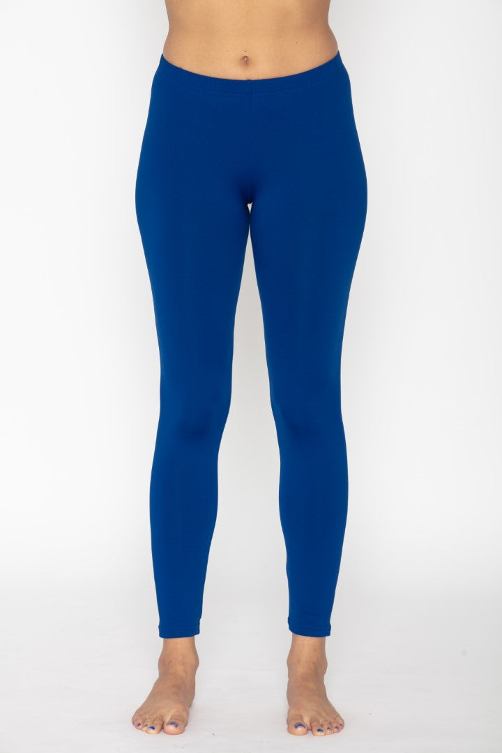 Women's Thermal Long John Royal Blue Leggings
