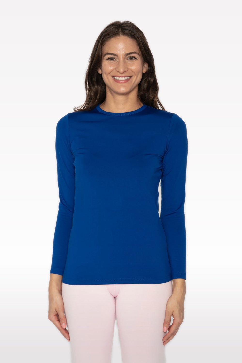 Women's Crew Neck Thermal Royal Blue Shirt