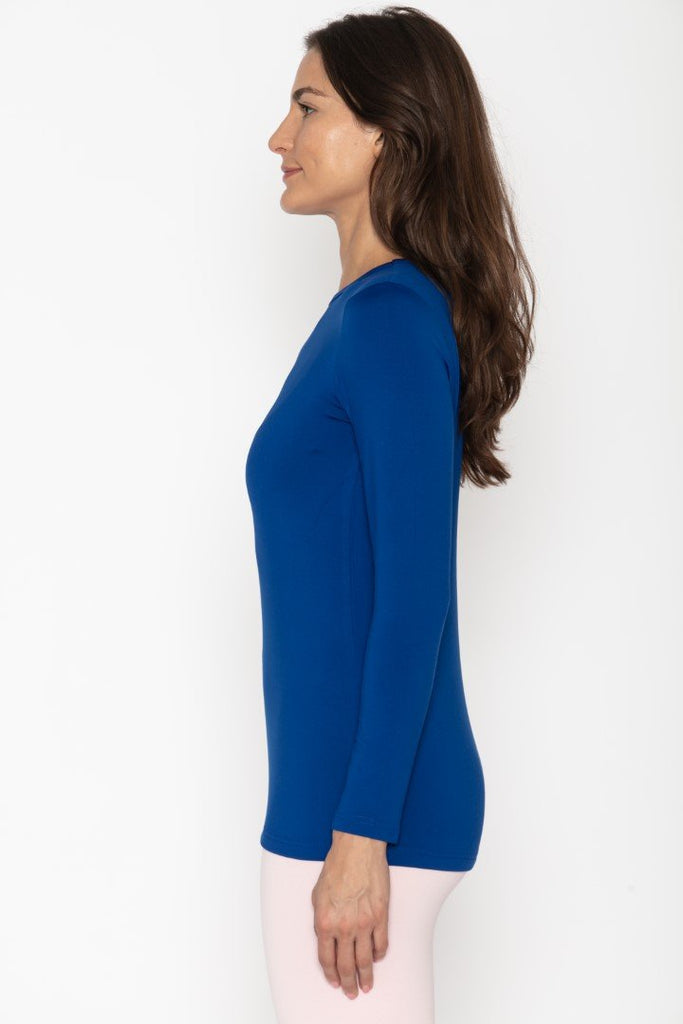 Women's Thermal Royal Blue Shirt