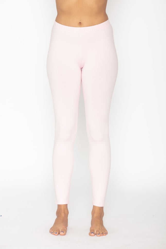 Women's Thermal Long John Baby Pink Leggings