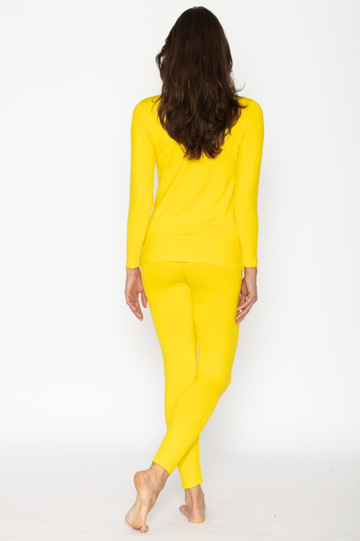 Yellow Thermal Underwear Set