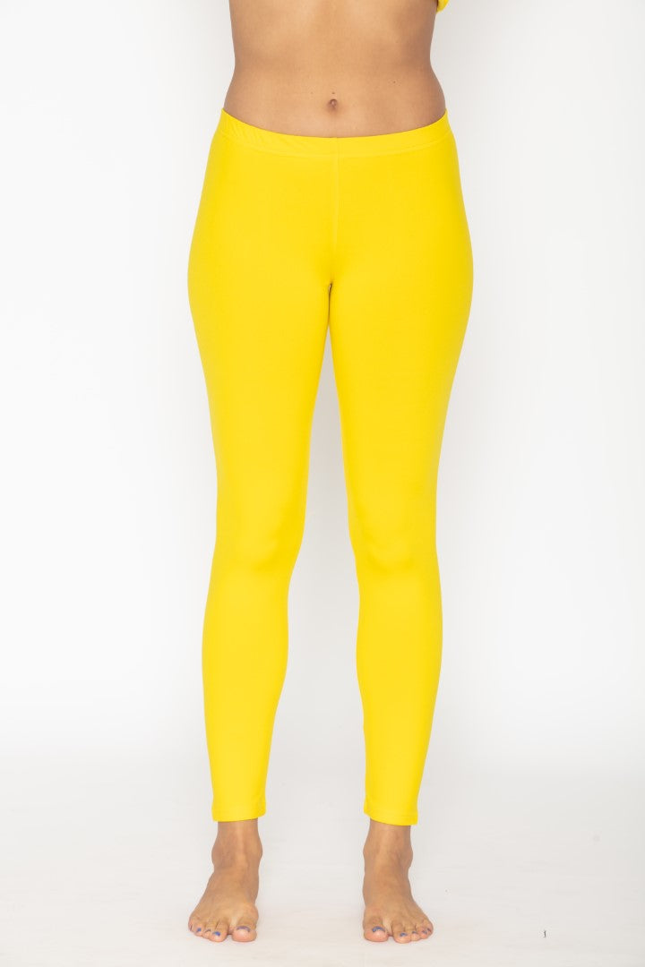 Women's Thermal Long John Yellow Leggings
