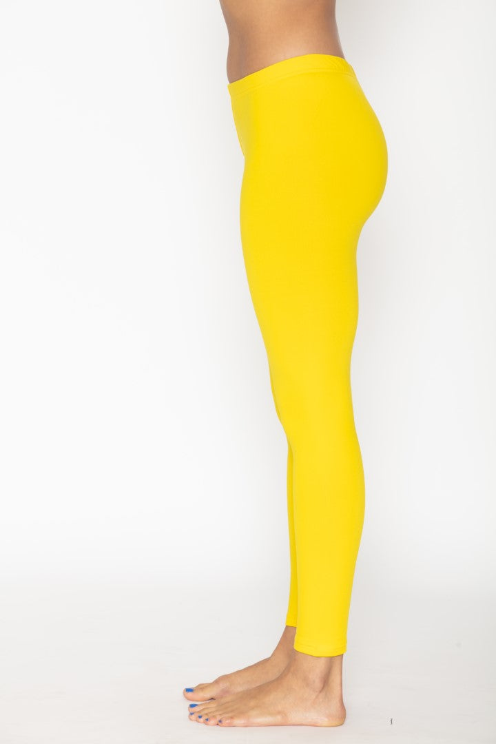 Women's Thermal Yellow Leggings