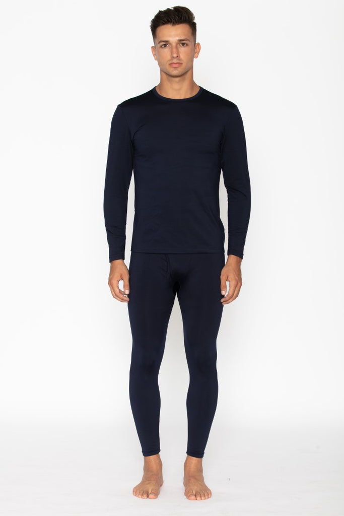 Men's Navy Thermal Underwear Set