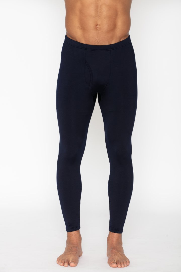 Men's Thermal Navy Long John Pants