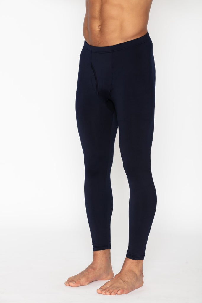 Men's Navy Thermal Long John Pants