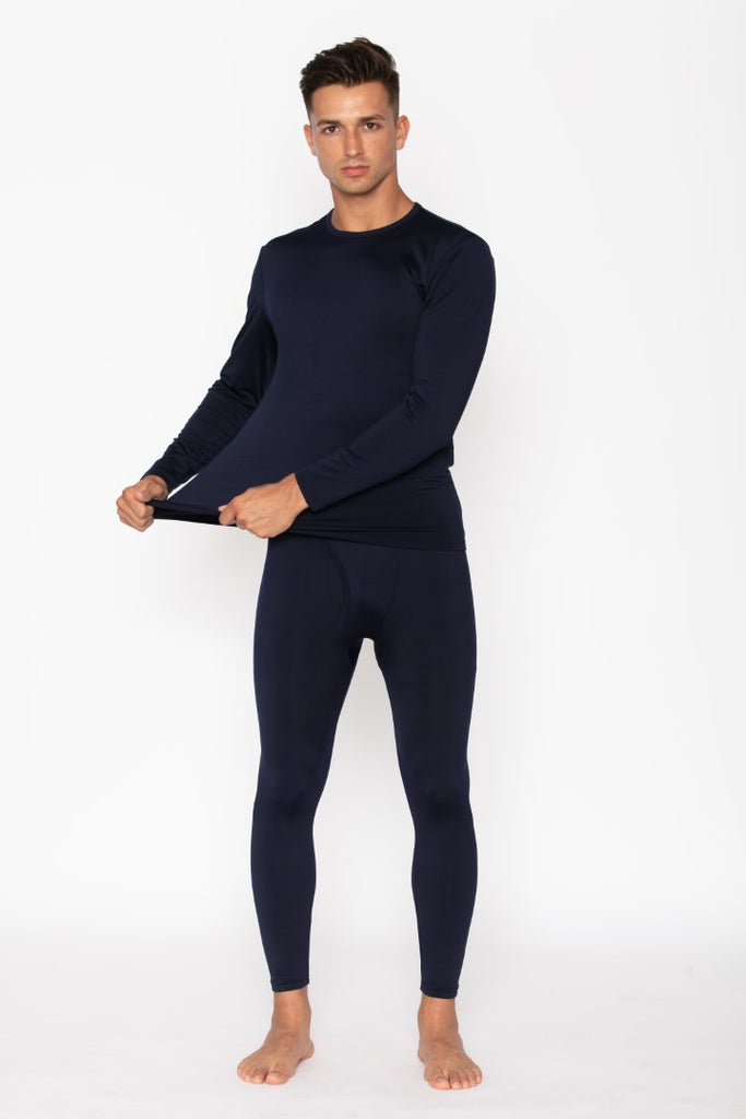 Navy Thermal Underwear Set for Men's