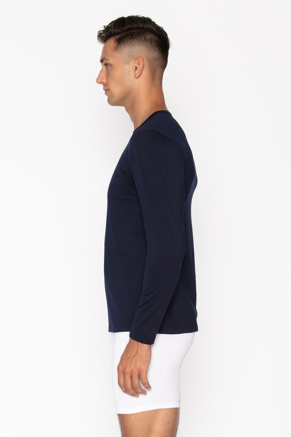 Navy Crew Neck Thermal Shirt for Men's