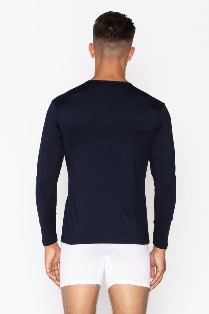 Navy Crew Neck Men's Thermal Shirt