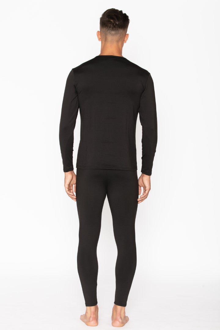 Black Thermal Underwear Set for Men's