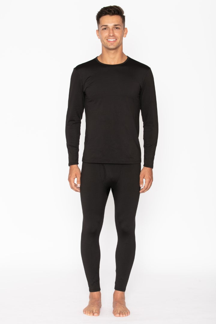 Men's Black Thermal Underwear Set