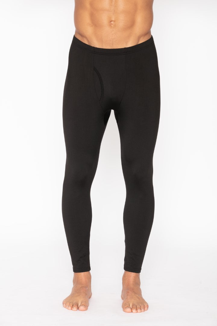 Men's Thermal Black Long John Pants