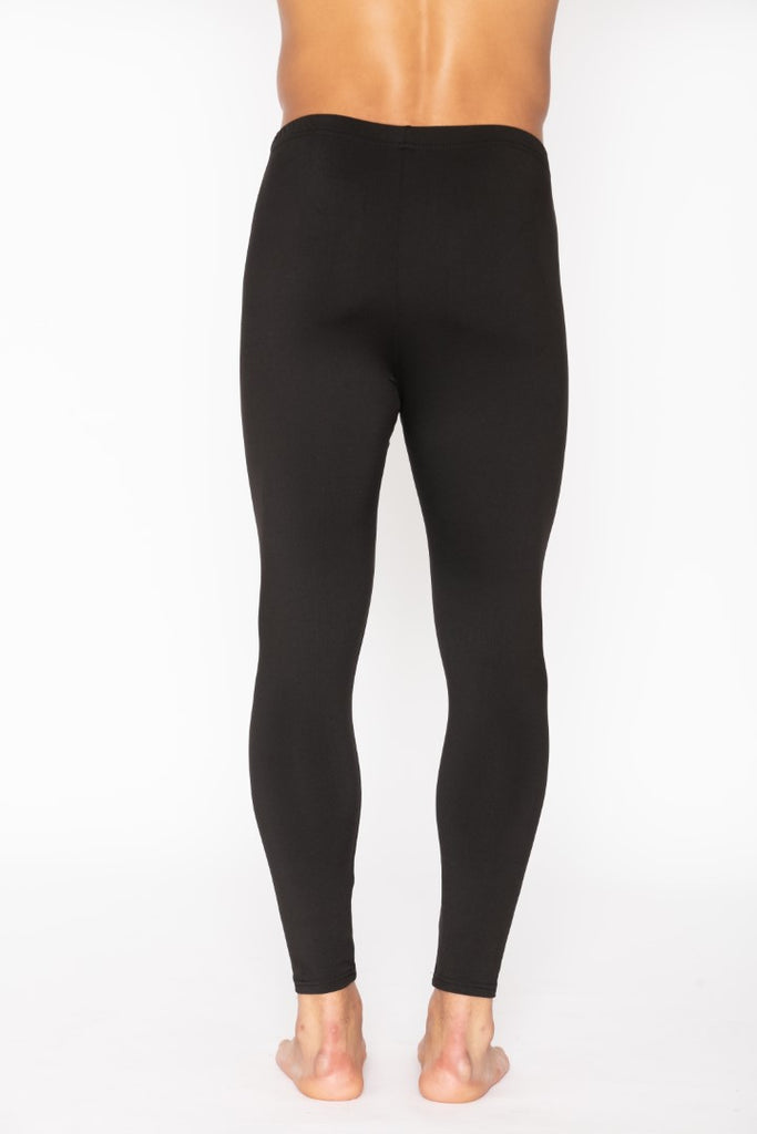 Black Men's Thermal Long John Pants