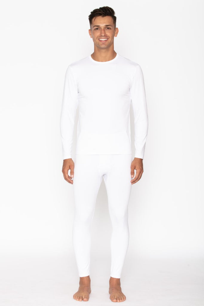 Men's White Thermal Underwear Set