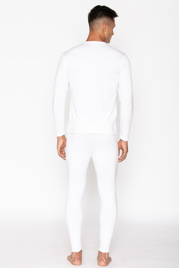 White Thermal Underwear Set for Men's