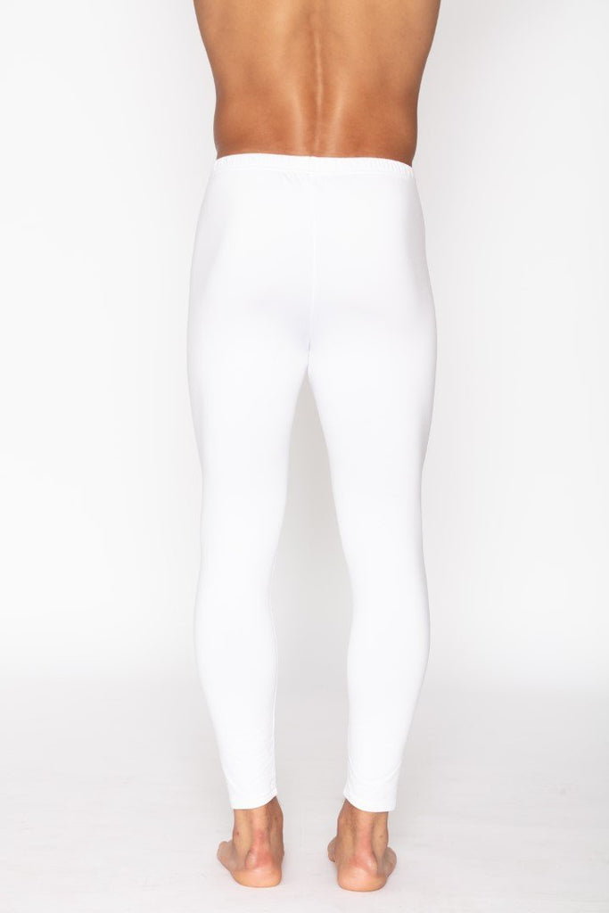 White Men's Thermal Long John Pants