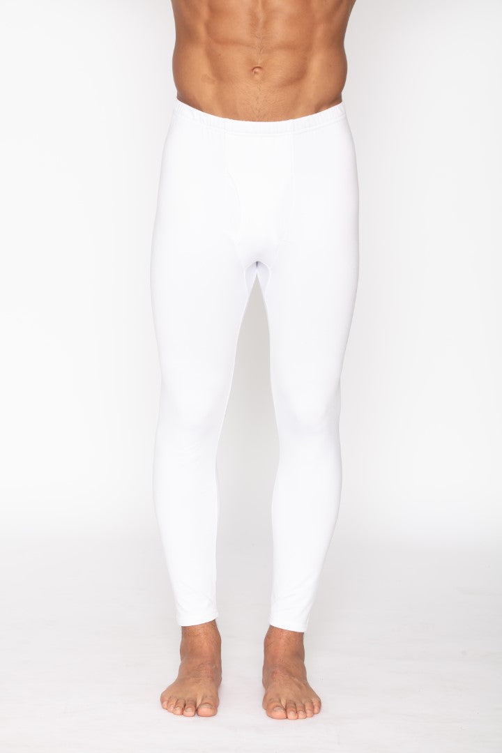 Men's Thermal White Long John Pants