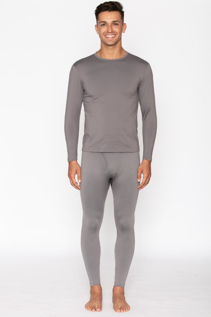 Men's Grey Thermal Underwear Set