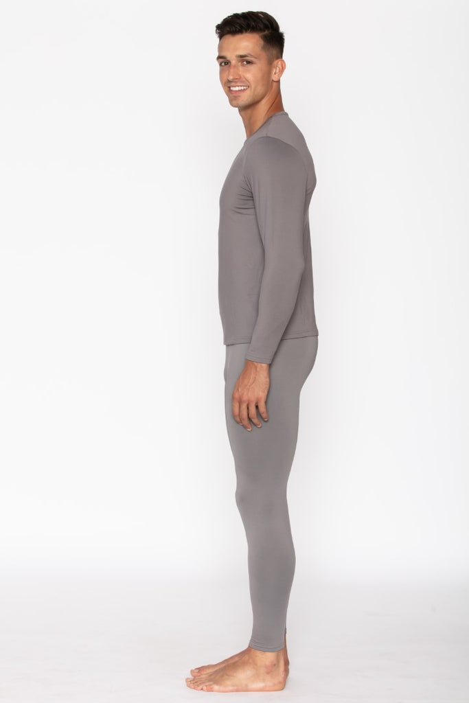 Grey Men's Thermal Underwear Set
