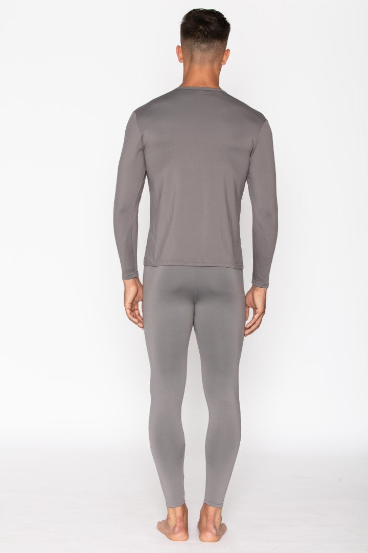 Grey Thermal Underwear Set for Men's