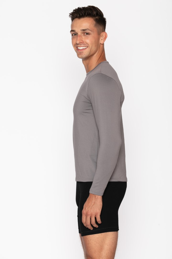 Grey Crew Neck Thermal Shirt for Men's