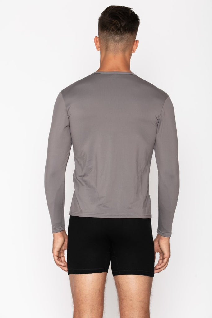 Grey Crew Neck Men's Thermal Shirt