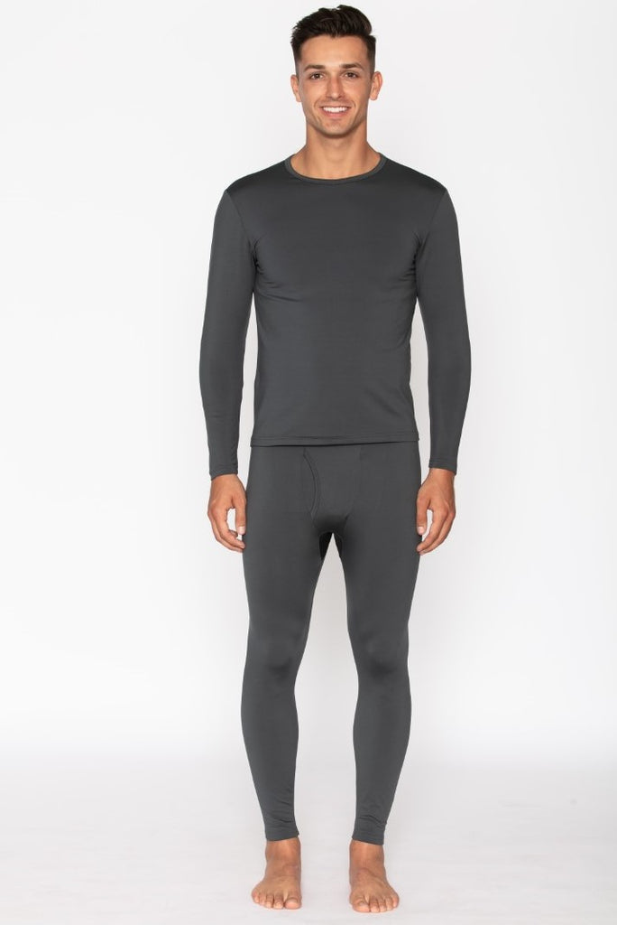 Men's Charcoal Thermal Underwear Set