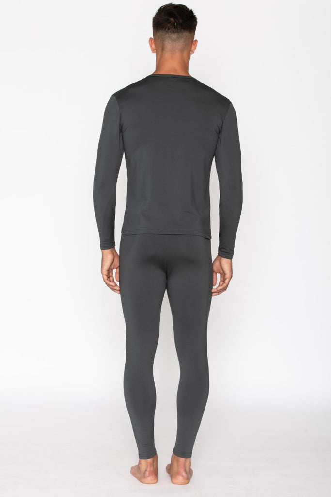 Charcoal Thermal Underwear Set for Men's