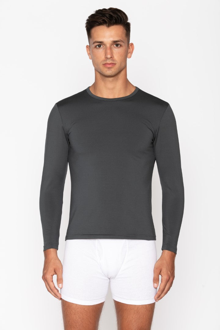 Men's Charcoal Crew Neck Thermal Shirt