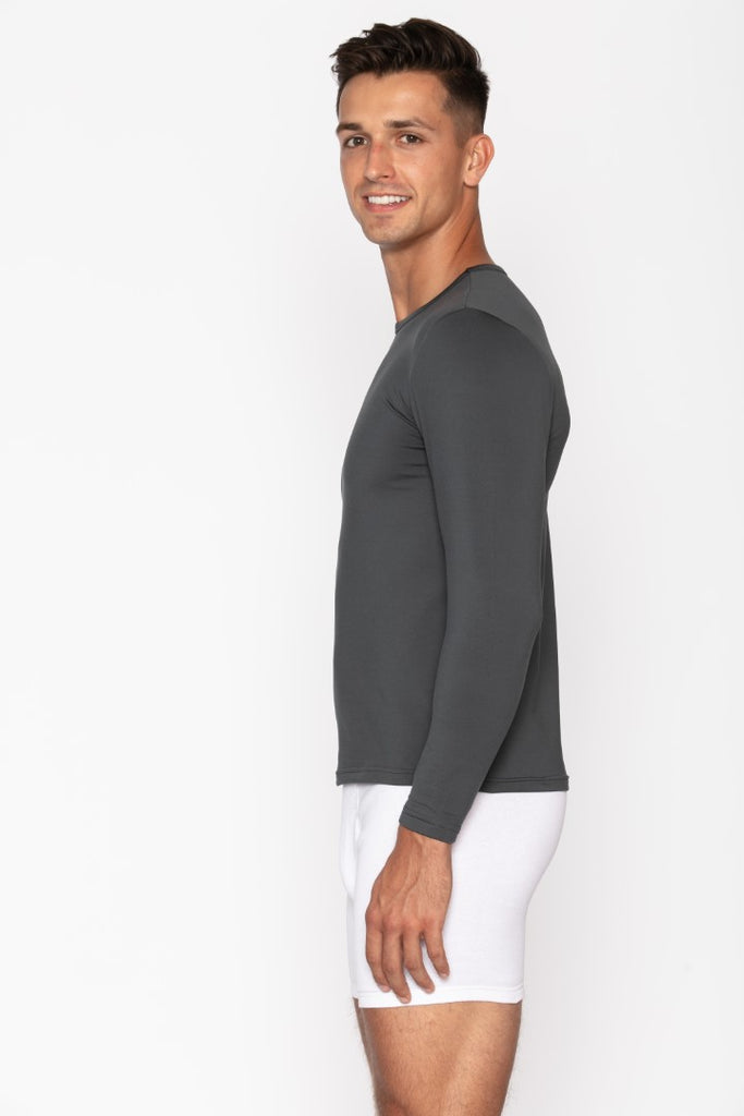 Charcoal Crew Neck Thermal Shirt for Men's