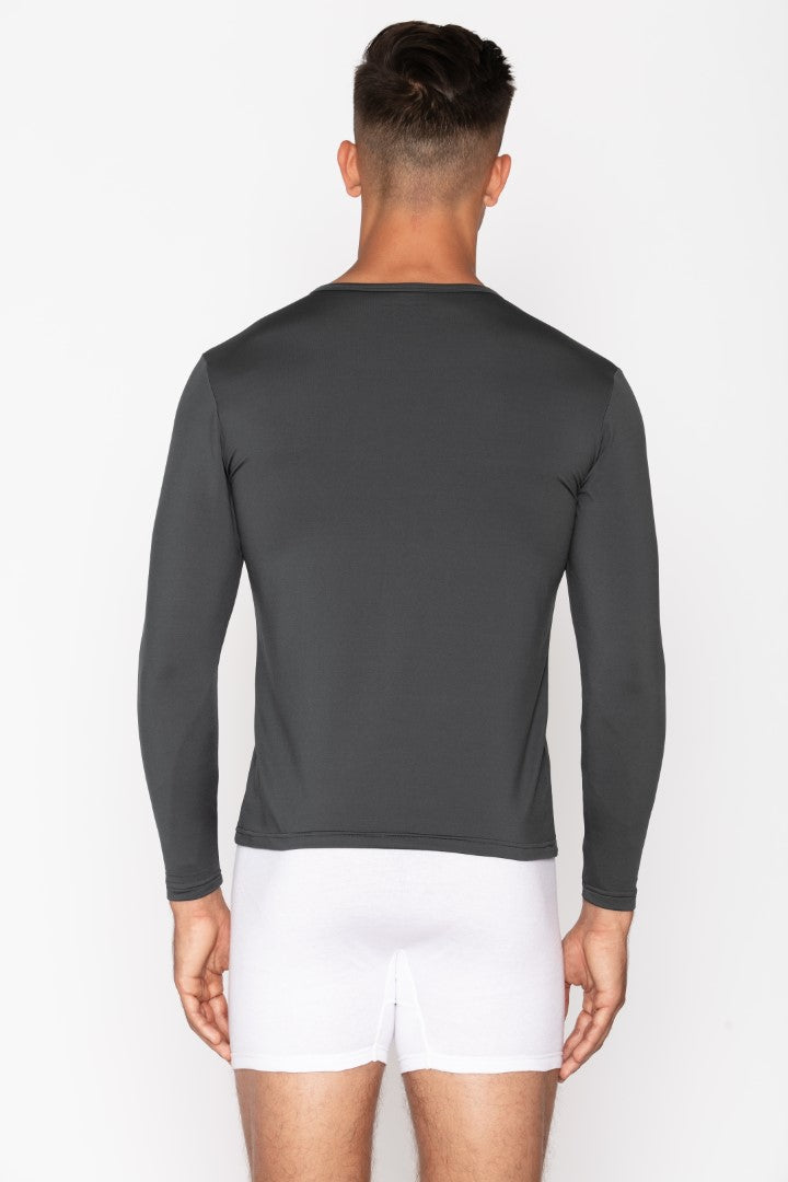 Charcoal Crew Neck Men's Thermal Shirt