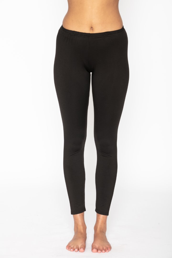 Women's Thermal Long John Black Leggings