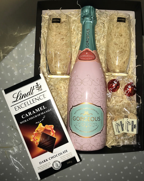 Gorgeous MCC & Stemless Champagne Glasses Gift Hamper