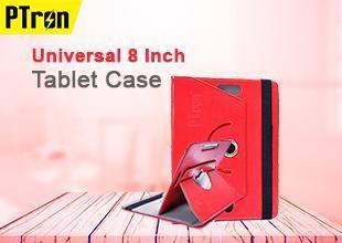 PTron Universal 8 Inch Tablet Case