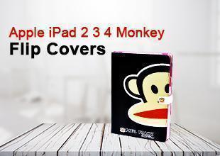 Apple iPad 2 3 4 Monkey Flip Covers