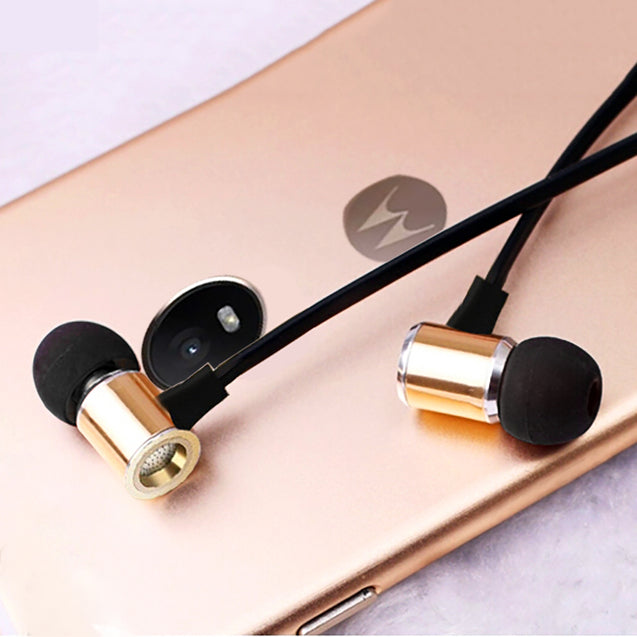 PTron Unison In-Ear Headphone With Noise Cancellation For Motorola Moto G5s Plus (Gold)